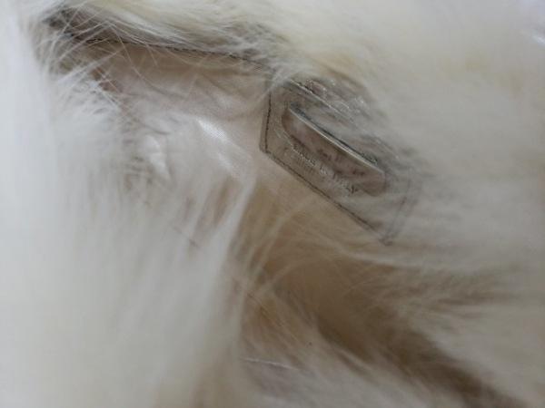 paola del lungo(パオラデルンゴ) ショルダーバッグ 白×シルバー ファー×レザー