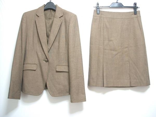COMME CA ISM(コムサイズム) スカートスーツ サイズM レディース ブラウン 肩パッド