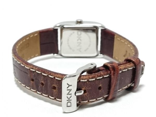 DKNY(ダナキャラン) 腕時計 NY-3517L レディース 革ベルト ダークグレー×ブロンズ