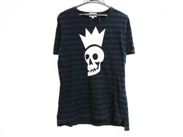 ヴィヴィアンウエストウッドマン 半袖Tシャツ サイズ50 メンズ スカル/ボーダー