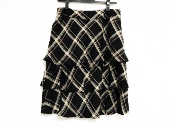 オースチンリード スカート サイズ40 L レディース美品  黒×ライトブラウン