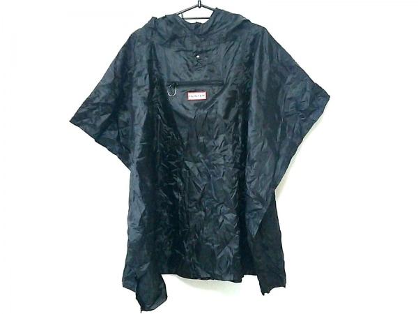 HUNTER(ハンター) コート サイズM レディース美品  黒 レインコート/収納式