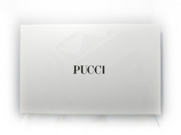EMILIO PUCCI(エミリオプッチ) 長財布 ピンク×黒×マルチ リボン エナメル(レザー)