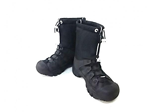 KEEN(キーン) ブーツ レディース 黒×白 ナイロン×スエード×ラバー