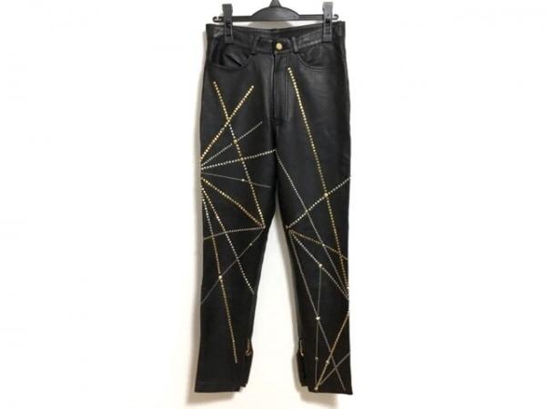 LUNA MATTINO(ルナマティーノ) パンツ サイズM メンズ 黒×ゴールド レザー/スタッズ
