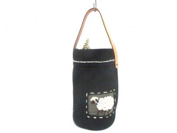 2eCLASSE(ドゥーズィエムクラス) ハンドバッグ 黒×ベージュ×マルチ ×Lourmarin