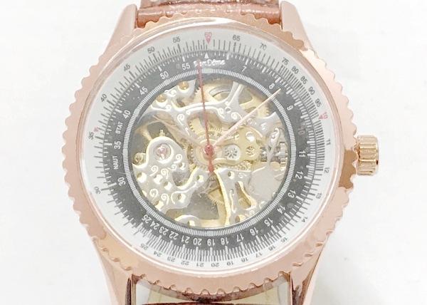 ven DOME(ヴァンドーム) 腕時計美品  レディース 革ベルト ゴールド×シルバー