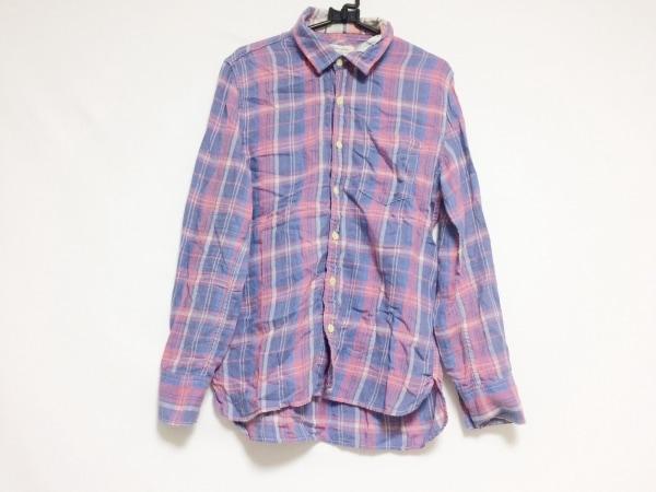REMI RELIEF(レミ レリーフ) 長袖シャツ サイズS メンズ ブルー×レッド×マルチ