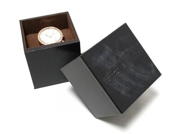 マイケルコース 腕時計 MK-5633 レディース クロノグラフ/ラインストーンベゼル