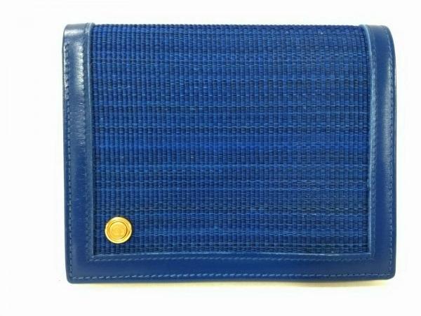 comtesse(コンテス) 2つ折り財布 ブルー ホースヘアー×レザー
