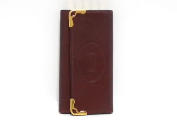 Cartier(カルティエ) キーケース マストライン ボルドー 4連フック レザー