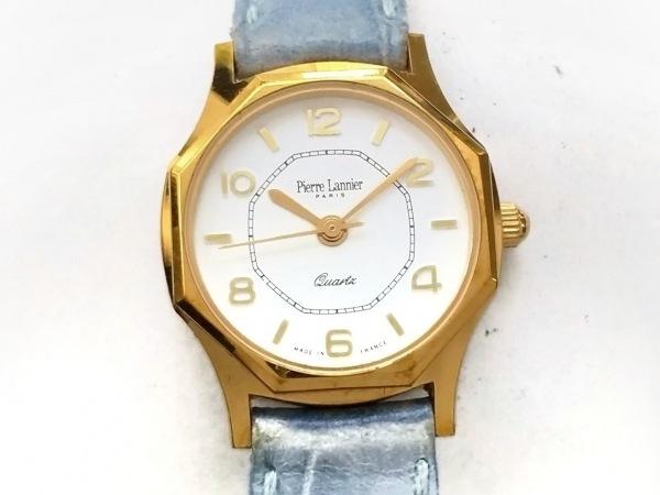 PierreLannier(ピエールラニエ) 腕時計 - レディース 革ベルト 白