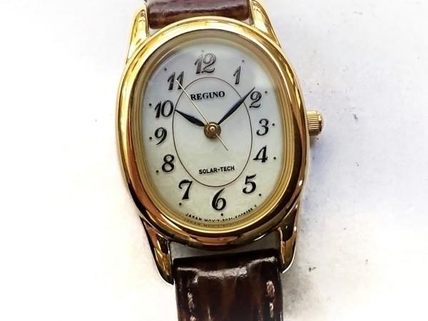 REGUNO(レグノ) 腕時計 E031-T017240 レディース 革ベルト アイボリー