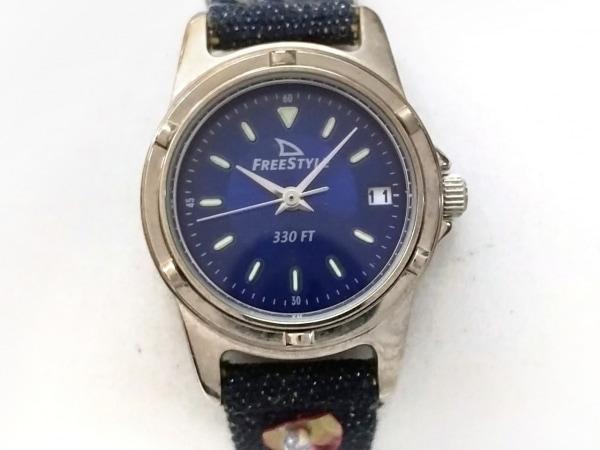 Freestyle(フリースタイル) 腕時計 613 レディース ビーズ/スパンコール ネイビー