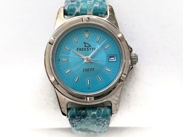 Freestyle(フリースタイル) 腕時計 613 レディース 革ベルト/型押し加工 ライトブルー