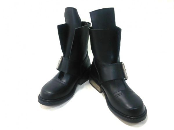 DIRK BIKKEMBERGS(ダークビッケンバーグ) ショートブーツ 40 メンズ 黒 レザー