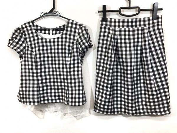 リッチミーニューヨーク スカートセットアップ サイズS レディース 黒×白 チェック柄