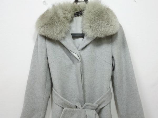 JNBY SINCE1994 コート サイズL レディース 黒×ダークグリーン 春・秋物/チェック柄