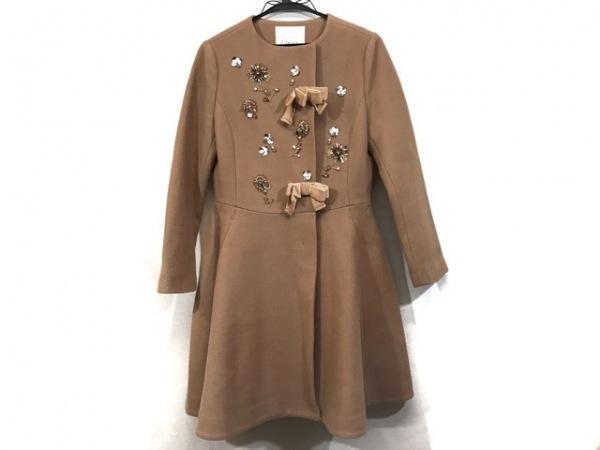 チェスティ コート サイズ0 XS レディース美品  ブラウン 冬物/ビジュー/リボン