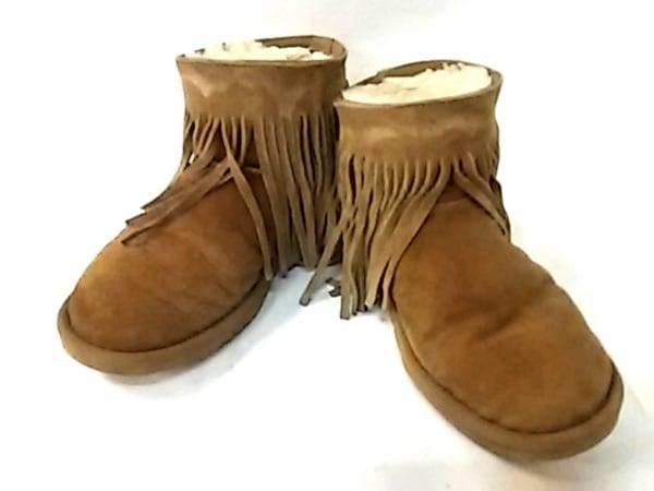 koolaburra(クーラブラ) ショートブーツ レディース ブラウン フリンジ ムートン