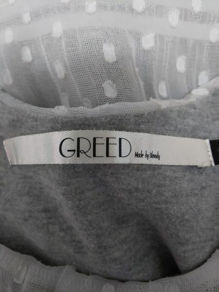 GREED(グリード) タンクトップ サイズF レディース グレー×白 レース