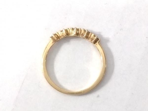 アーカー リング美品  K18YG×ダイヤモンド ピンキーリング/5Pダイヤ/0.09カラット