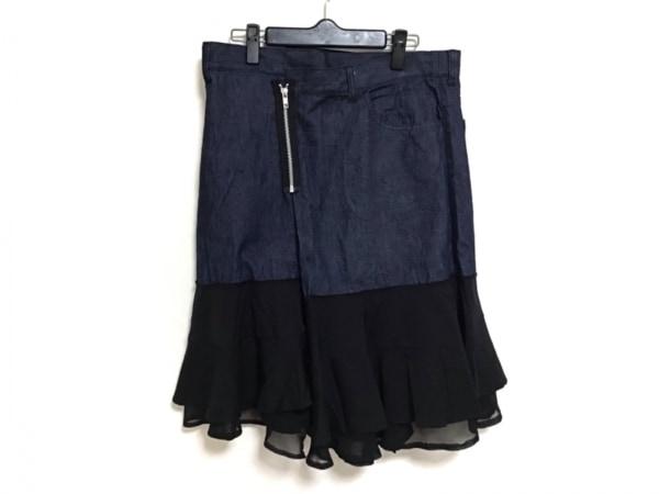 トリココムデギャルソン スカート サイズM レディース美品  ネイビー×黒