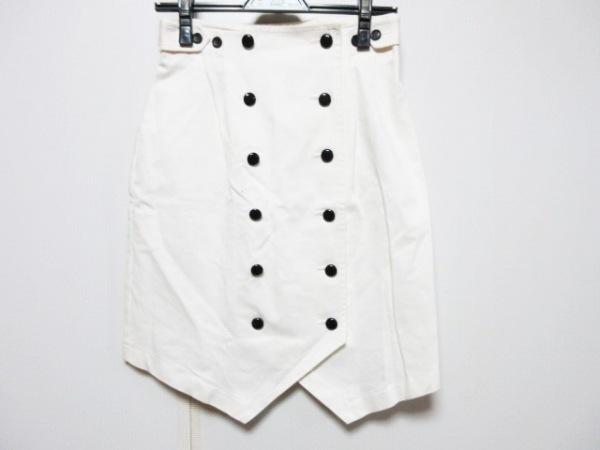plumpynuts(プランピーナッツ) 巻きスカート サイズ38 M レディース アイボリー×黒