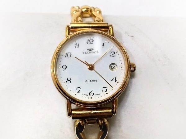TECHNOS(テクノス) 腕時計 - レディース 白