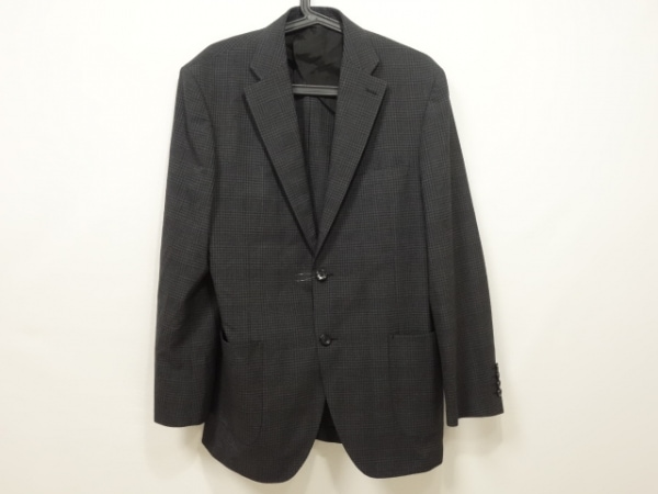 ダーバン ジャケット サイズAB6 メンズ ダークグレー×黒 チェック柄/春・秋物