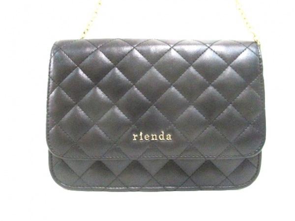 rienda(リエンダ) ショルダーバッグ美品  黒 合皮