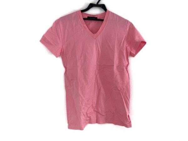 LITHIUMHOMME(リチウムオム) 半袖Tシャツ サイズ44 L メンズ美品  ピンク