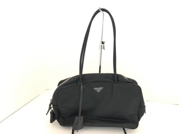 PRADA(プラダ) ハンドバッグ - 黒 ナイロン×レザー