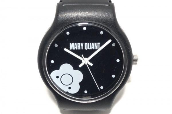 MARY QUANT(マリクワ) 腕時計 - レディース 黒×白