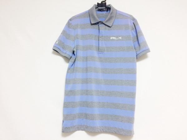 ラルフローレン 半袖ポロシャツ サイズS メンズ ネイビー×ライトグレー ボーダー
