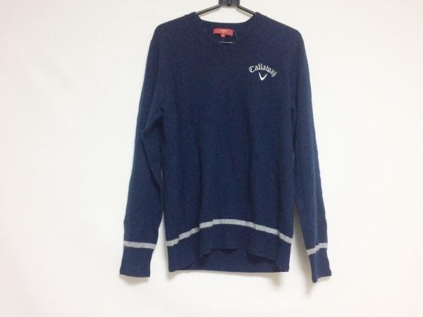 CALLAWAY(キャロウェイ) 長袖セーター サイズM メンズ ダークネイビー×白