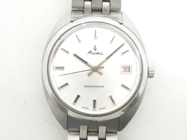 Aroma(アロマ) 腕時計美品  - メンズ シルバー