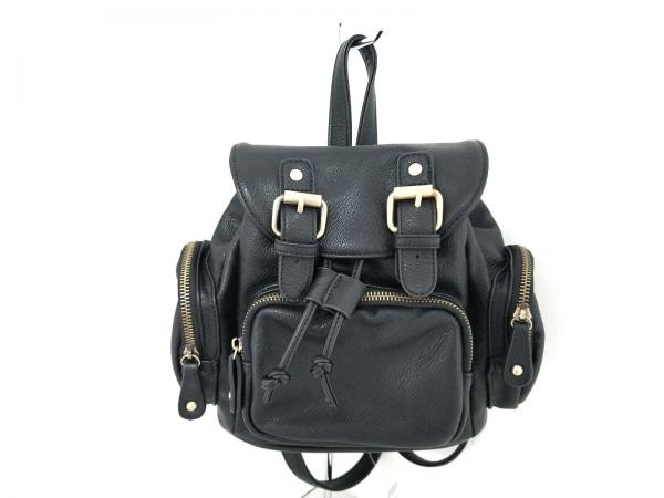 Sentore Amaranto(セントレアマラント) リュックサック美品  黒 巾着型 合皮