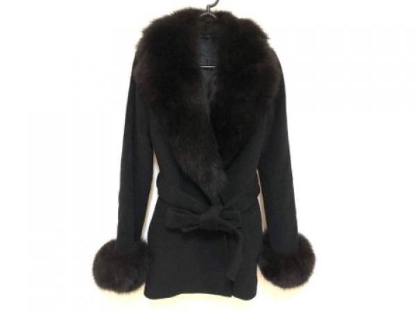 ノーベスパジオ コート サイズ38 M レディース美品  黒 冬物/ファー取外し可