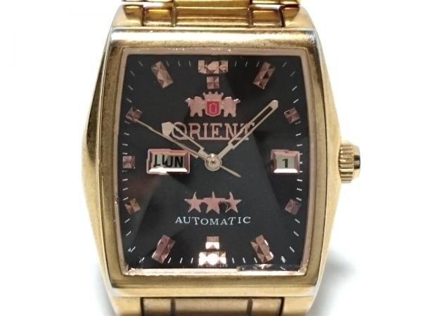 ORIENT(オリエント) 腕時計 スリースター NQAC-RO レディース スター ダークブラウン
