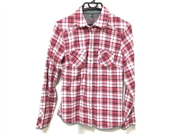 MAMMUT(マムート) 長袖シャツブラウス サイズS レディース美品  ピンク×白×マルチ