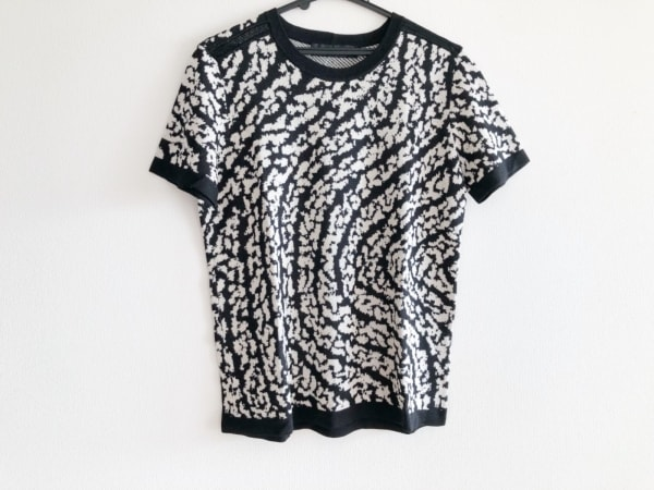 プロエンザスクーラー 半袖セーター サイズS レディース美品  アイボリー×黒