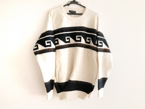 イザベルマラン 長袖セーター サイズ36 S レディース アイボリー×黒×マルチ