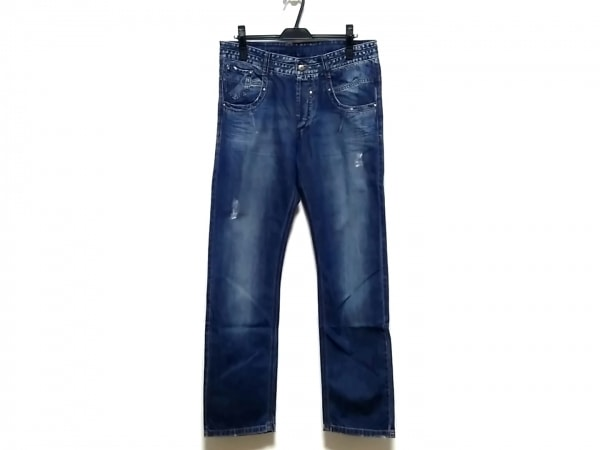 エルマノシェルビーノ ジーンズ サイズ50 メンズ ブルー ダメージ加工/ボタンフライ