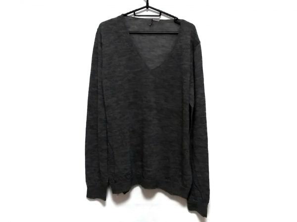 ERMANNO SCERVINO(エルマノシェルビーノ) 長袖セーター サイズ52 メンズ グレー