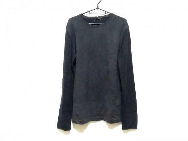 ニールバレット 長袖セーター サイズL メンズ ダークグレー×黒 ボーダー