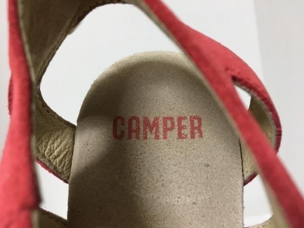 CAMPER(カンペール) サンダル 37 レディース レッド スエード