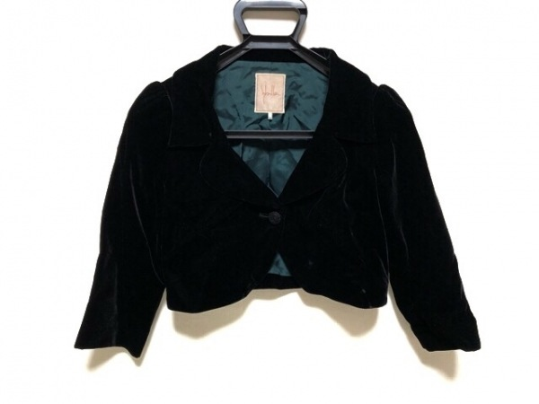Sybilla(シビラ) ジャケット サイズM レディース 黒 ショート丈/ベロア