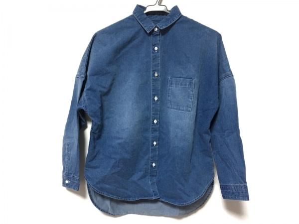アッパーハイツ 長袖シャツ サイズ0 XS メンズ美品  ブルー THE SHIRT/デニム