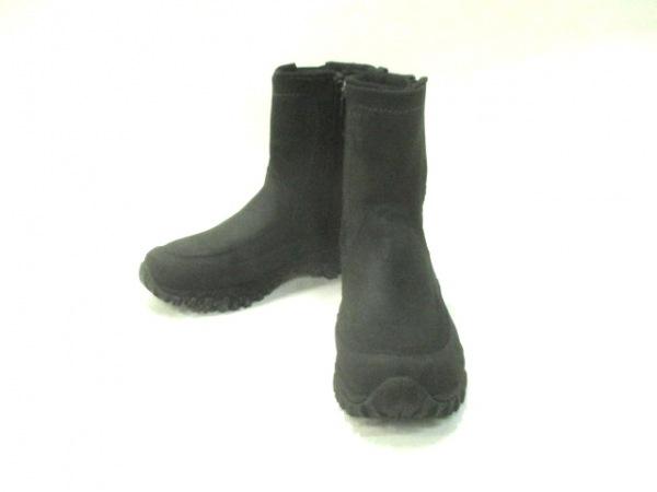 MERRELL(メレル) ショートブーツ メンズ 黒 サイドゴア ヌバック×ラバー